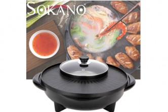 [SOKANO Portable Electric Multifunction Grill and Steamboat @ 43% Savings!] B$39 instead of B$69 for a unit of SOKANO Portable Electric Multifunction Grill and Steamboat. Redemption at SD HQ, Gadong.