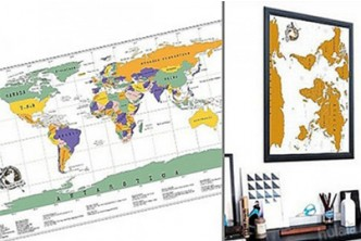 [Scratchable World Map @ 70% Savings!] B$12 instead of B$39.9 for a unit of Scratchable World Map. Redemption at SD HQ, Gadong.
