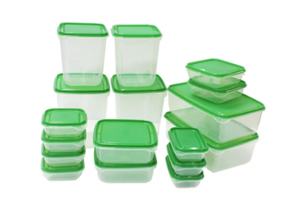 [PRUTA 17 Food Containers @ 78% Savings!] B$12 instead of B$50 for a set of 17 Food Containers, Redemption at SD HQ, Gadong.