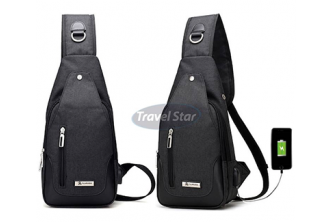 [Shoulder Bag with External charging USB port @ 75% Savings!] B$19.9 instead of B$79 for a unit of Travel Star Korean Shoulder Bag With Charging USB Port, Redemption at SD HQ, Gadong.