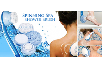 [Spin & Scrub @ 72% Savings!] B$22 instead of B$79 for a unit of Spin SPA Shower Brush Bath Massager, Redemption at SD HQ, Gadong.