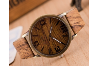 [Wooden Strap Watch @ 86% Savings!] B$10 instead of B$69 for a unit of Sokano Wooden Strap Watch at SD HQ, Gadong.