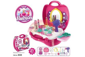 [SOKANO Kid's Make Up Set @ 44% Savings!] B$16.9 instead of B$30 for a unit of SOKANO TOY 8228 Fashion Girl Beauty Make Up Kids Role Play Pretend -Pink. Redemption at SD HQ, Gadong.