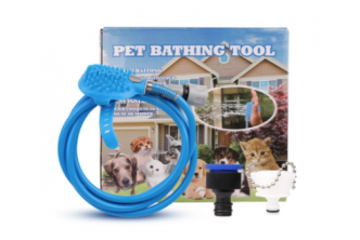 [Pet Shower Spray with Brush @ 51% Savings!] B$29 instead of B$59 for a unit of Pet Showering Spray with Brush. Redemption at SD HQ, Gadong.