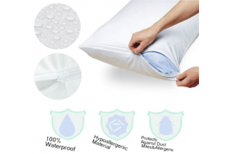 Protect against dust* [2Pcs Waterproof Pillow Protector @ 67% Savings!] B$13 instead of B$39 for 2Pcs of Waterproof Pillow Protector (protect against dust). Redemption at Gadong.