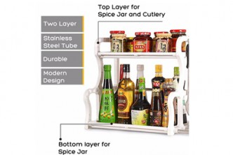 [SOKANO Seasoning and Kitchen Rack @ 80% Savings!] B$10 instead of B$49 for a unit of 2 Tier Seasoning and Kitchen Organizer Rack,  Redemption at SD HQ, Gadong.