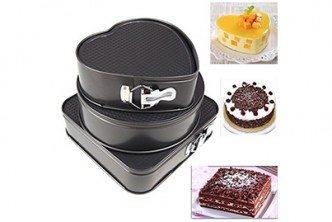 [3IN1 Cake Mould @ 63% Savings!] B$22 instead of B$60 for a unit of Set of Three Springform Pans Cake Bake Mould Bakeware. Redemption at SD HQ, Anggerek Desa