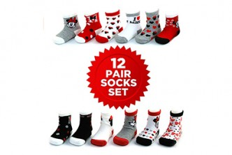 U.S. Deal [Baby Socks Set @ 60% Savings!] B$35 instead of B$88 for a set of 12 pairs of Baby Socks. Redemption at SD HQ, Gadong.