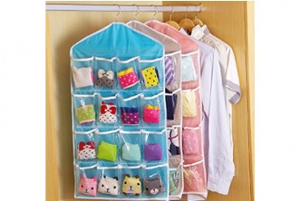 *Raya Special [16 pockets Closet Organiser @ 63% Savings!] B$7 instead of B$19 for a unit of 16 pockets Clear Closet Hanging Organiser. Redemption at SD HQ, Gadong.