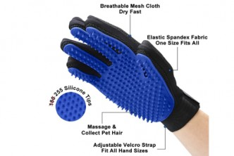 [Pet's Glove @ 65% Savings!] B$19 instead of B$55 for a unit of Pet Grooming Gloves. Redemption at SD HQ, Gadong.