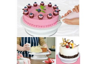 [Rotating Cake Stand @ 65% Savings!] B$9 instead of B$26 for a unit of Rotating Cake Decorating Stand. Redemption at SD HQ, Gadong