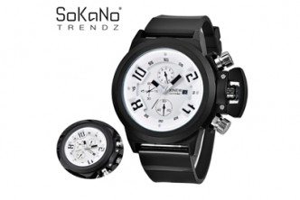 Buy before 30th October* [Sokano Men Premium Sports Watch @ 84% Savings!] B$15 instead of B$99 for a unit of Sokano Men Premium Sports Watch. Redemption at SD HQ, Gadong.
