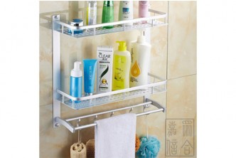 High Quality* [Double Tier Bathroom Shelf with Hooks @ 62% Savings!] B$25.9 instead of B$69 for Double Tier Bathroom Shelf. Redemption at SD HQ, Gadong.