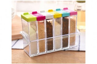 [Seasoning Box Case @ 75% Savings!] B$12 instead of B$49.5 for a unit of 6pcs Transparent Seasoning Spice jar . Redemption at SD HQ, Gadong