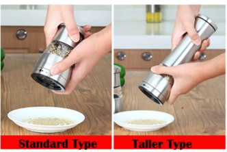 [Stainless Steel Pepper Grinder @ 73% Savings!] B$13 instead of B$48 for a unit of Stainless Steel Pepper Grinder. Redemption at SD HQ, Gadong