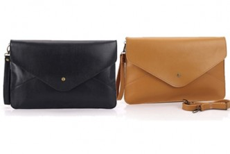 [Sokano PU Leather Clutch  @ 67% Savings!] B$19.9 instead of B$59.9 for a unit of SoKaNo Trendz Vintage Style PU Leather Envelope Clutch. Redemption at SD HQ, Gadong