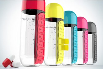 [Hydrate and Recover @ 69% Savings!] B$12 instead of B$39 for a unit of Water Bottle With Pill & Vitamins Organizer .Redemption at SD HQ, Gadong.