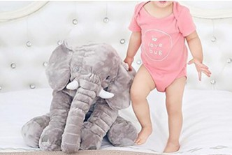 [Giant Elephant Stuffed Toy @ 68% Savings!] B$25 instead of B$79 for a unit of SOKANO Giant Elephant Stuffed Toy For Kid and Children (Grey). Redemption at SD HQ, Gadong.