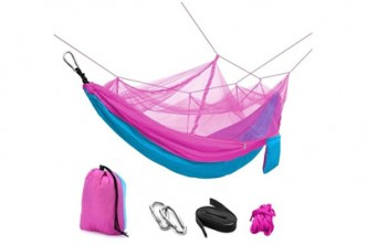 Only Blue/Pink* [Sokano Hammock with Mosquito Net @ 54% Savings!] B$22 instead of B$48 for a unit of Sokano Foldable Outdoor Hammock Bed with Mosquito Net. Redemption at SD HQ, Gadong.