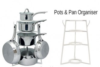 INSTOCK! [PanTree Organizer @ 56% Savings!] B$12 instead of B$27 for a unit PanTree Cookware Organizer Pan Tree Pot. Redemption at SD HQ, Gadong.