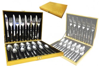 [Premium Cutlery Set @ 78% Savings!] B$20 instead of B$89 for a unit of 24pcs Stainless Steel Cutlery Set. Redemption at SD HQ, Gadong