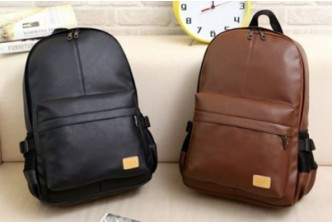 [Korean PU Leather Shoulder Backpack @ 70% Savings!] B$22 instead of B$99 for a unit of Korean Style PU Leather Shoulder Backpack. Redemption at SD HQ, Gadong.