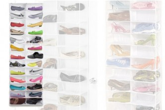 [26 Slots Shoe Organizer @ 65% Savings!] B$15.9 instead of B$45 for a unit of Over The Door Hanging Shoe Organizer. Redemption at SD HQ, Gadong.