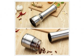 [Stainless Steel Pepper Grinder @ 77% Savings!] B$11 instead of B$48 for a unit of Stainless Steel Pepper Grinder. Redemption at SD HQ, Gadong