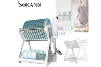 [Sokano Luxury Dish Drainer @ 49% Savings!] B$19.9 instead of B$39 for a unit of Sokano Luxury Dish Drainer. Redemption at SD HQ, Gadong.