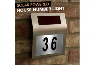 Buy before 15th December** [Solar Powered LED House Sign @ 63% Savings!] B$18 instead of B$49 for a unit of Sokano Solar Powered LED House Number Sign. Redemption at SD HQ, Gadong.