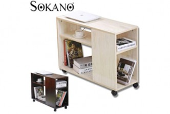 [SOKANO 2 Tier Side Table @ 57% Savings!] B$65 instead of B$150 for a unit of SOKANO 2-Tier Wooden Side Table with Roller Wheels. Redemption at SD HQ, Gadong.
