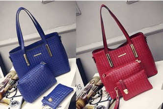 *Blue Only* [3 SoKaNo Elegant Knitted PU Leather Bags @ 79% Savings!] B$ 29 instead of B$139 for a set of SoKaNo Trendz Elegant Knitted PU Leather Bags (Set of 3). Redemption at SD HQ, Gadong