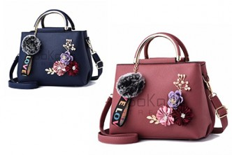 [SOKANO Flower Tote Bag @59% Savings!] B$20 instead of B$49 for a unit of SOKANO 3D Flower Tote Bag with Charms. Redemption at SD HQ, Gadong.