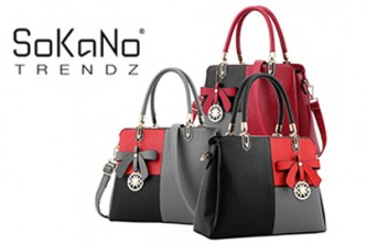 [SOKANO Mix Colour Tote Bag @34% Savings!] B$25 instead of B$38 for a unit of SOKANO Elegant Mix Colour Top Tote Bag with Charms. Redemption at SD HQ, Gadong.