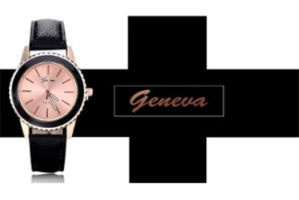 [Geneva Analog Watch @ 83% Savings!] B$10 instead of B$59 for a unit of Geneva PU Leather Watch at SD HQ, Gadong.