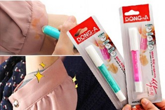 [2 Units of Stain Removing Pens @ 65% Savings!] B$9.90 instead of B$28 for 2 Units of Clothes Stain Removing Pens (Pink & Blue). Redemption at SD HQ, Gadong.