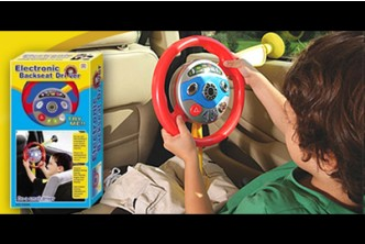 [Electronic Backseat Driver @ 67% Savings!] B$13 instead of B$39.9 for a unit of Toy Steering Wheel. (with rear mirror) Redemption at SD HQ, Gadong