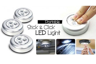[Set of 3 Stick N Click LED Lighting @ 58% Savings!] B$7.90 instead of B$19 for a Set of 3 Stick N Click LED Lighting. Redemption at SD HQ, Gadong.