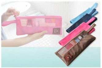 *Color Subject to Availability [2x Water Resistant Travel Pouch @ 69% Savings ] B$8 instead of B$25.9 for 2x Multipurpose Water-Resistant Travel Pouch. Redemption at SD HQ, Gadong.