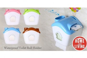 [Waterproof Toilet Roll Holder @ 74% Savings!] B$5 instead of B$19 for Waterproof Toilet Roll Holder – Doubles As A Phone/Tablet Stand (No Drilling Required). Redemption at SD HQ, Gadong.