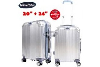 [TRAVEL STAR 2IN1 Luggage Sets With External Charging Port @ 40% Savings!] B$179 instead of B$300 for a unit of TRAVEL STAR 2IN1 Luggage Sets With External Charging Port . Redemption at SD HQ, Gadong.