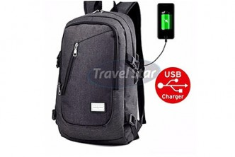 [Korean Travel Star Backpack With External Charging USB Port @ 69% Savings!] B$25 instead of B$79.9 for a unit of Korean Travel Star Backpack With External Charging USB Port. Redemption at SD HQ, Gadong