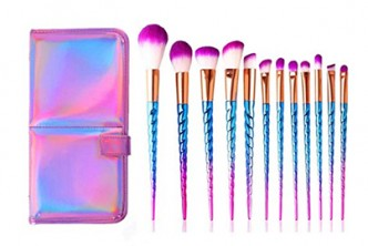 From U.S.[Set of 12 Professional Unicorn Makeup Brush and Pouch @ 67% Savings!] B$29 instead of B$89 for a set of 12 Professional Unicorn Makeup Brush Set. Redemption at SD HQ, Gadong.