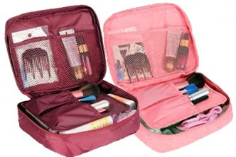 [Travel Makeup Organizer @ 40% Savings!] B$12 instead of B$20 for a unit of Travel Makeup Toiletry Case Organizer. Redemption at SD HQ, Gadong.