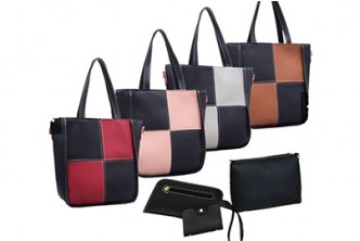 [4IN1 Leather Tote Bag @ 46% Savings!] B$15 instead of B$28 for a unit of 4In1 Set T01 PU Leather Tote Bags. Redemption at SD HQ, Gadong.
