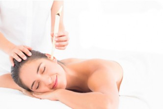 +-1 Hour [Relax & Relish @ 70% Savings!] B$18 instead of B$60 for  Ear Candling+ Head & Shoulder massage + Face Srub + Mask + Eye Brow Shaping at Aesthetic Beauty Salon, Menglait