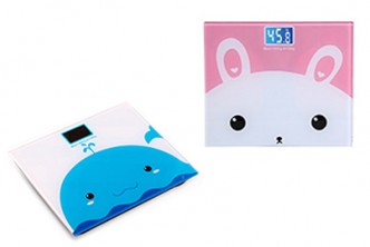 [Glass Cartoon Body Scale @ 49% Savings!] B$18 instead of B$35 for a unit of Mini Cute Cartoon Electronic Body Scale with Tempered Glass. Redemption at SD HQ, Gadong.