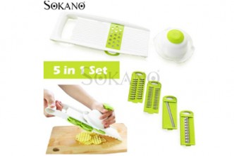 [SOKANO 5-In-1 Vegetables Grater Slicer Set @ 72% Savings!] B$11 instead of B$39 for a set of SOKANO CF1066 High Quality Vegetables Grater Portable Slicer Set . Redemption at SD HQ, Gadong.
