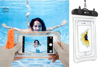 From U.S.[Travel Waterproof Phone Pouch @ 45% Savings!] B$12 instead of B$22 for a unit of Travel Waterproof Phone Pouch For Swimming, Boating, Fishing, Skiing, Rafting for various phone models. Redemption at SD HQ, Gadong.
