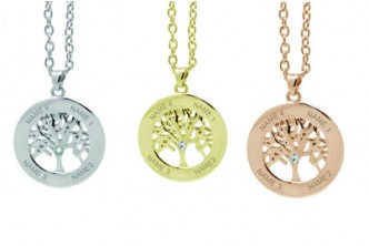 [Personalised Tree of Life Necklace @ 70% Savings!] B$36 instead of B$120 for a Personalised Tree of Life Necklace *UP TO 4 NAMES* from Jewelian, The UK. Redemption at SD HQ, Anggerek Desa